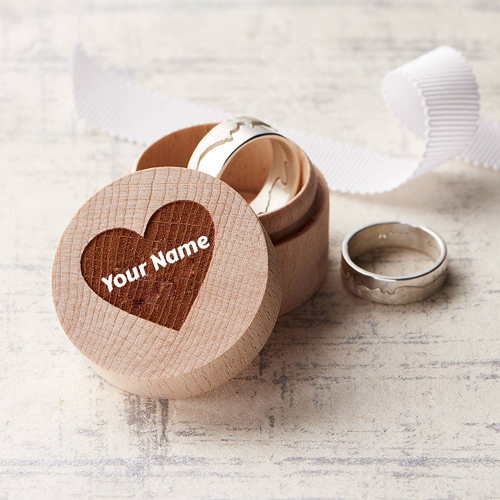 Personalised Wedding Ring Wooden Box With Your Name