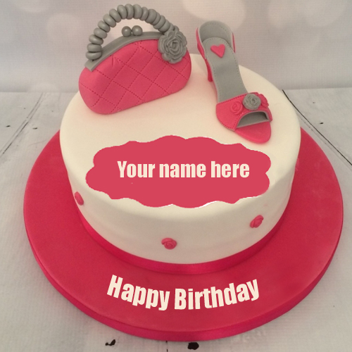 Happy Birthday To Beautiful Girl Trendy Cake With Name