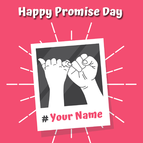 Happy Promise Day Wishes Valentine Greeting With Name