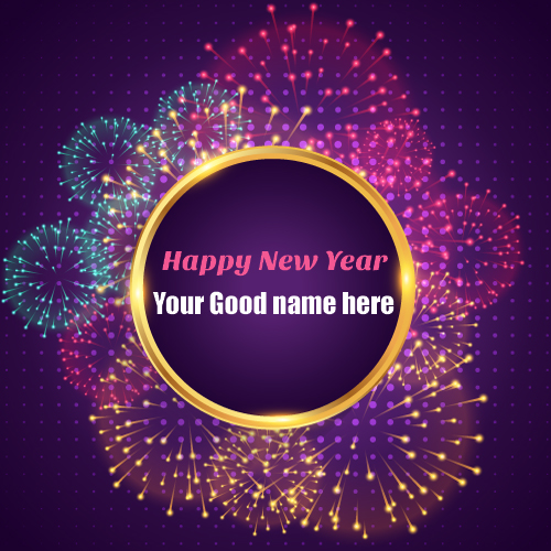 Happy New Year Diwali greeting card with your name