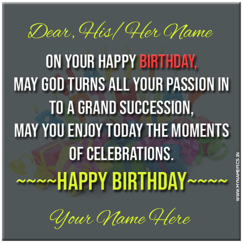 Birthday Wishes God Blessings Quote Greeting With Name