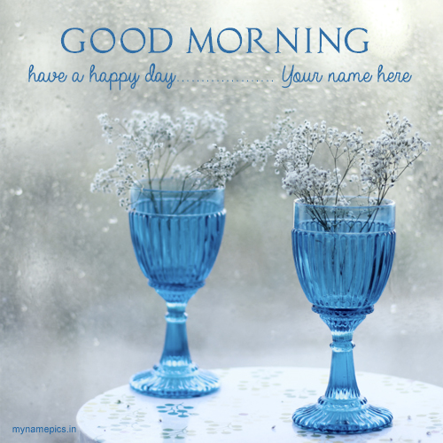 Write name on good morning flower images online