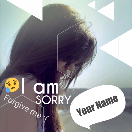 I am Sorry Forgive Me Girl Profile Pics With Your Name