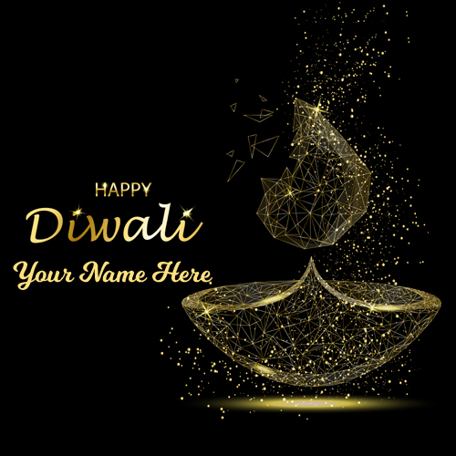 Happy Diwali Light Fire Festival Greeting With Name