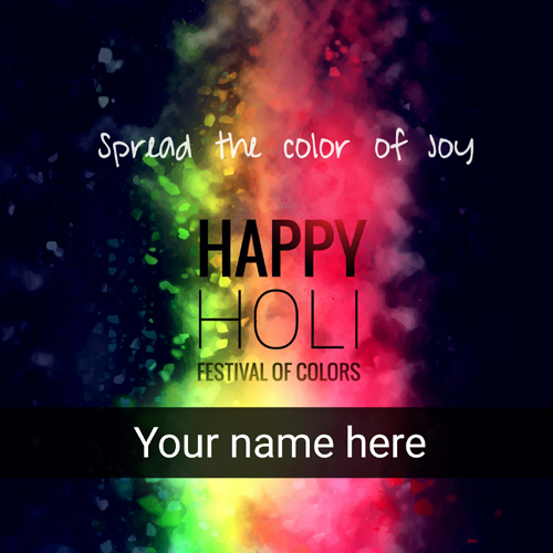 Happy holi wishes whatsapp greeting with your name generate greeting m4hsunfo