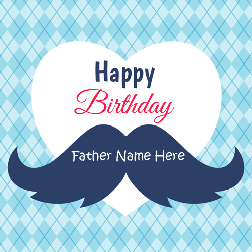 Happy Birthday Dear Papa Wishes Greeting With Name