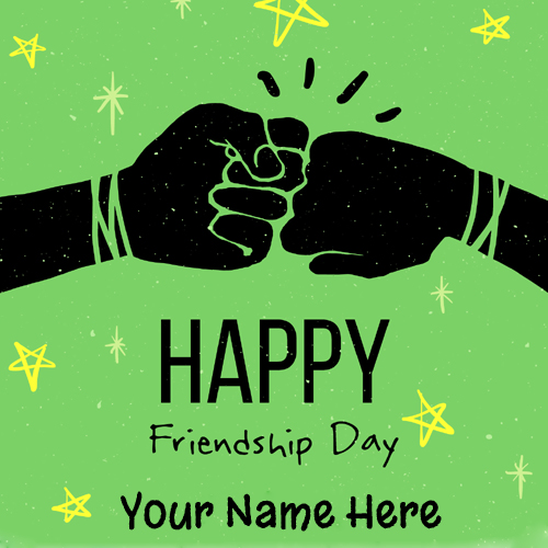Happy Friendship Day Name Greeting For Whatsapp DP
