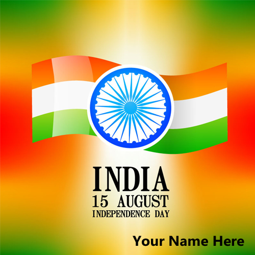 Create Whatsapp Greeting of Independence Day With Name