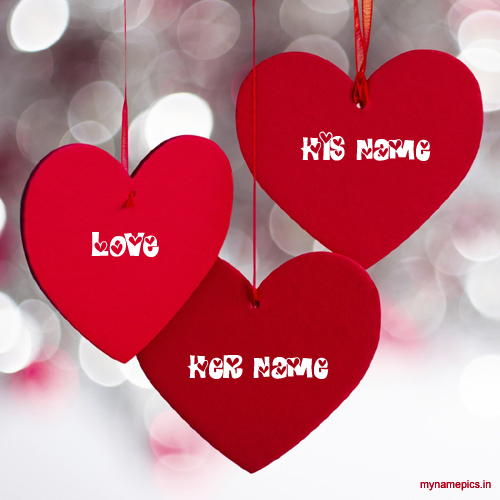 Write name on hanging heart love name pix
