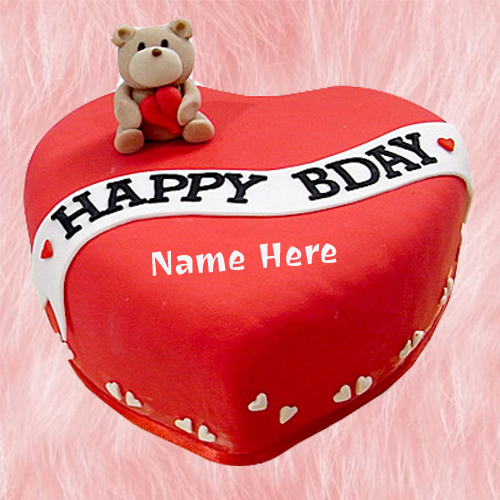 Generate Custom Text on Happy Birthday Cake For Girlfri