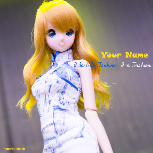 Write your name on fashion doll profile pix