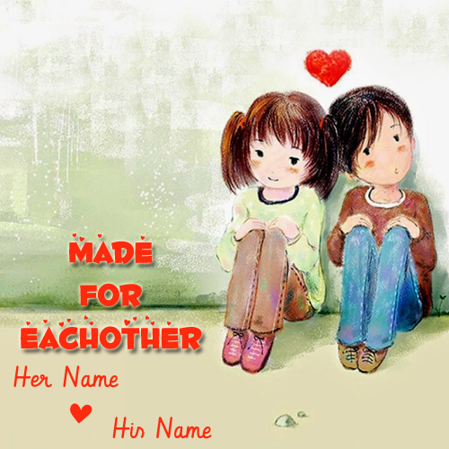 Cute Little Cartoon Love Couple Profile Pics With Name