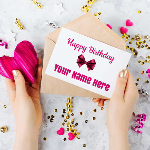 Beautiful Happy Birthday Card For Lover With Your Name