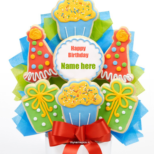 Write your name on birthday cake bouquet profile pictur