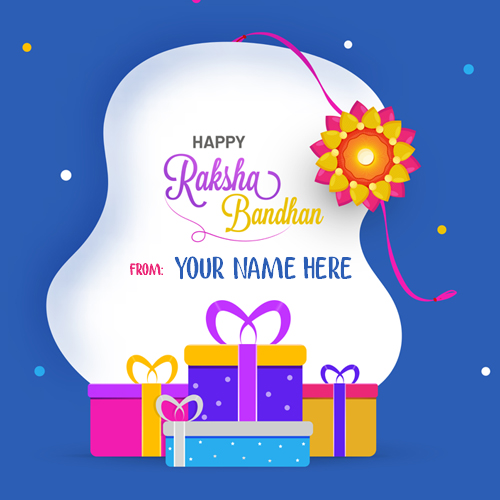 Raksha Bandhan Festival Special Elegant Card With Name