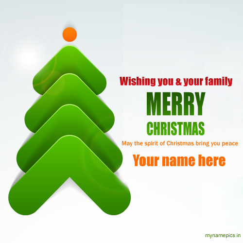 Customize Merry Christmas Wishes New Quote Card With Na
