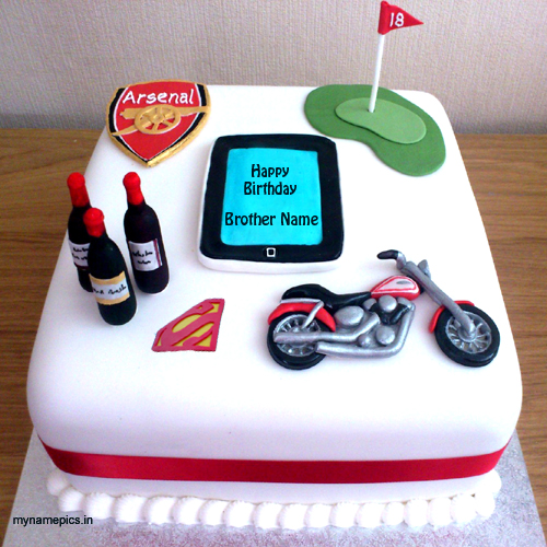 Elegant Bike Birthday Cake for with Name All About Collection