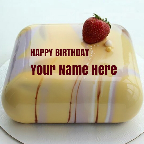 Mirror Glaze Buttercream Fondant Cake With Your Name
